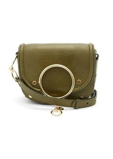 See By Chloé Mara small lizard-effect leather cross-body bag