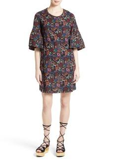 See by Chloé Micro Vegas Print Bell Sleeve Dress (Nordstrom Exclusive)