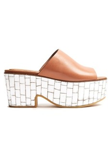 See By Chloé Mirror-platform leather mules
