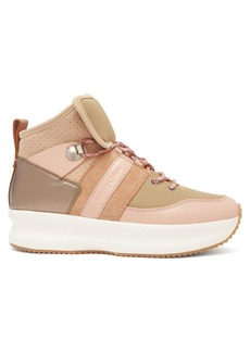 See By Chloé Nicole leather and mesh high-top trainers