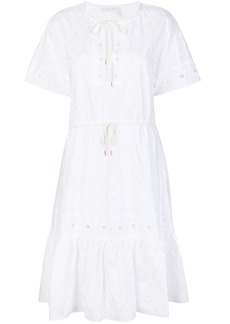 See By Chloé open embroidery midi dress - White