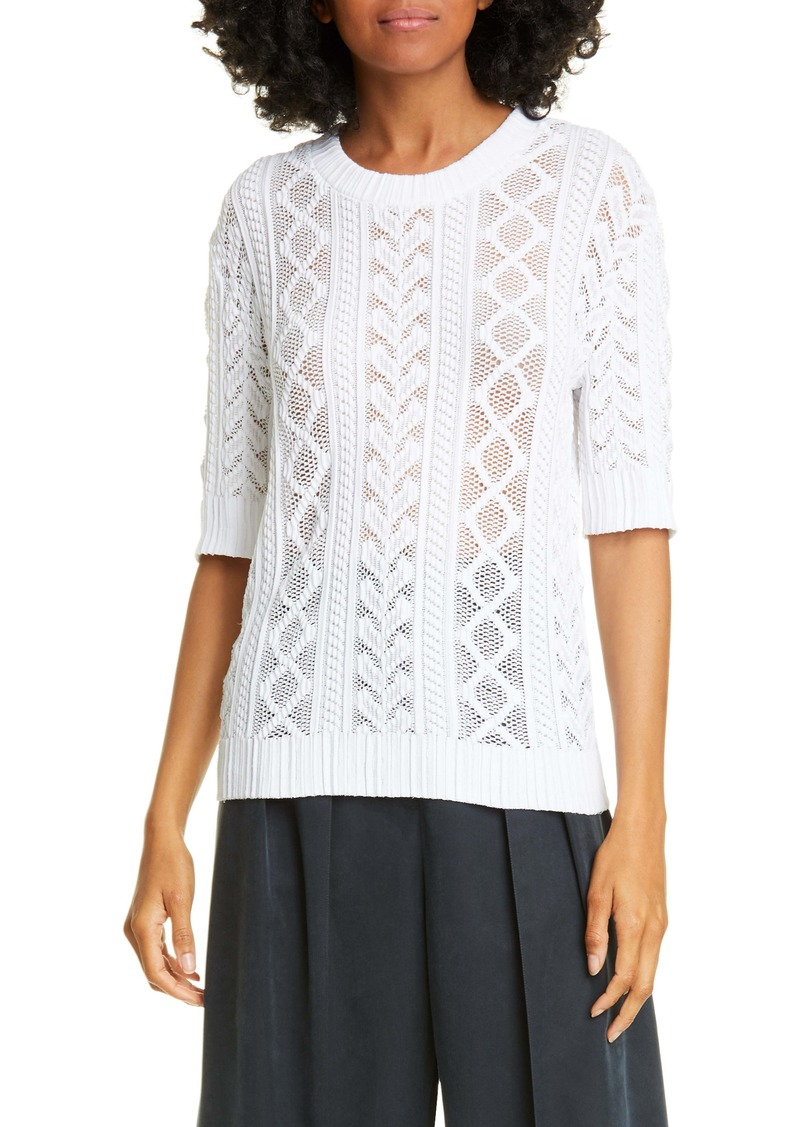 See by Chloé Openwork Knit Sweater
