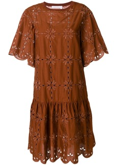 See By Chloé openwork lace dress - Brown