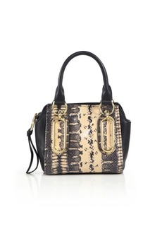 See by Chloé Paige Mini Snake-Embossed Leather Top-Handle Bag