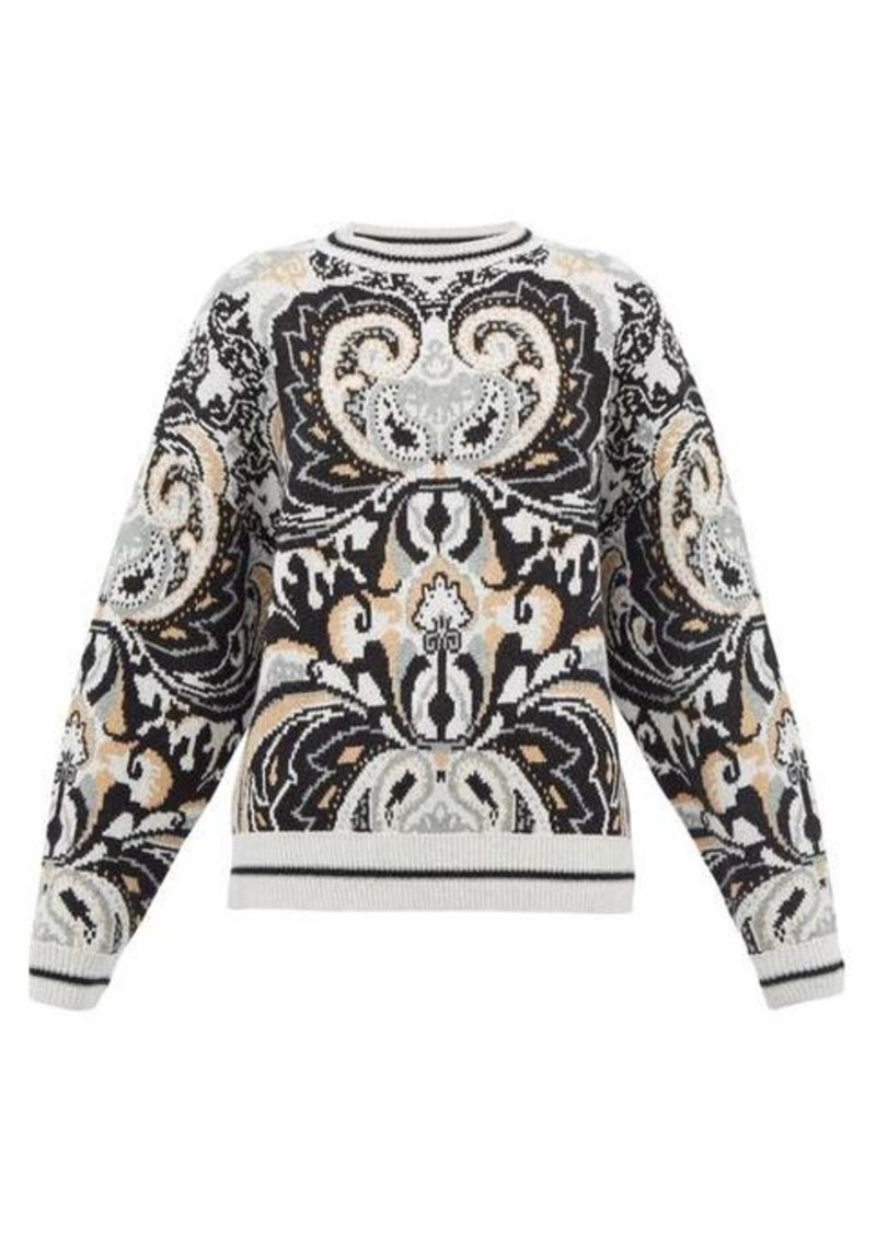 See By Chloé Paisley-jacquard wool-blend sweater