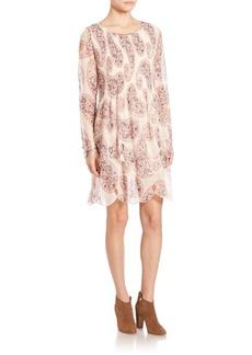 See by Chloé Paisley Printed Long Sleeve Dress
