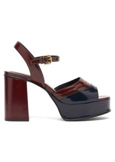 See By Chloé Panelled platform leather sandals