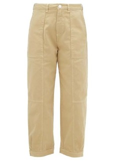 See By Chloé Patch-pocket cotton-blend twill trousers