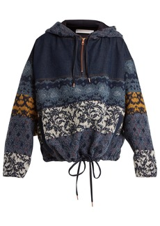See By Chloé Patchwork hooded jacket