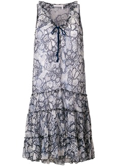 See By Chloé patterned shift dress - Blue