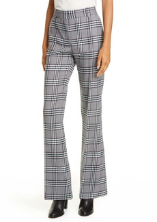 See by Chloé Plaid Flare Trousers