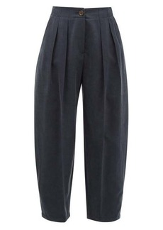 See By Chloé Pleated cropped twill trousers