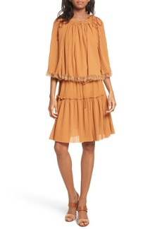 See by Chloé Pleated Popover Dress