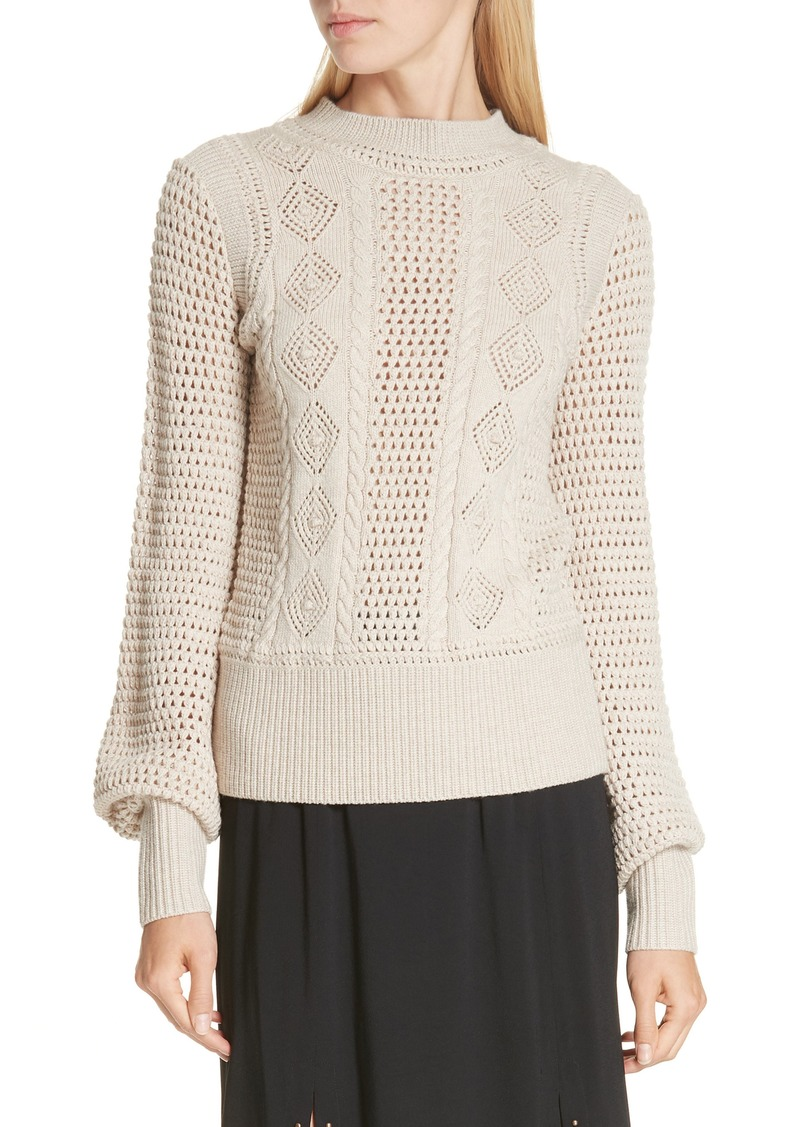 See by Chloé Pointelle Knit Sweater