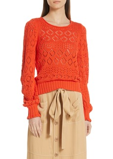 See by Chloé Pointelle Sweater