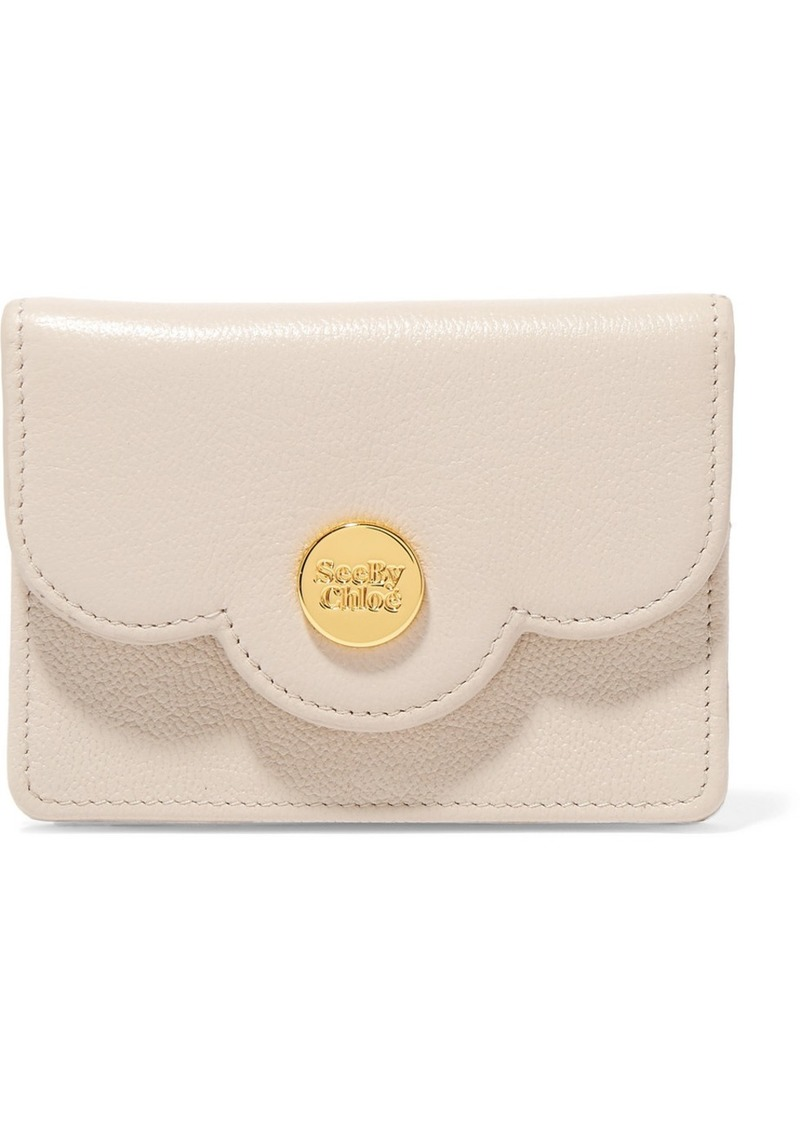 9a541e23 Polina Mini Scalloped Textured-leather Wallet