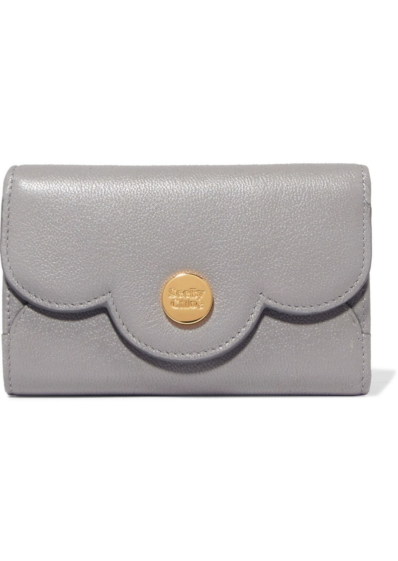 b4822e5e Polina Scalloped Textured-leather Wallet