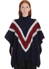 See by Chloé Poncho Knitwear In Blue Wool