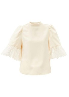 See By Chloé Puff-sleeved satin blouse