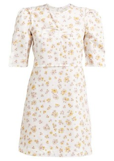 See By Chloé Puffed-sleeve floral-print cotton mini dress