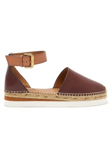 See By Chloé Raised-sole leather espadrilles