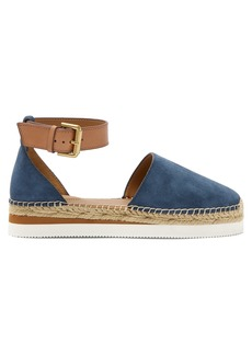 See By Chloé Raised-sole suede espadrilles