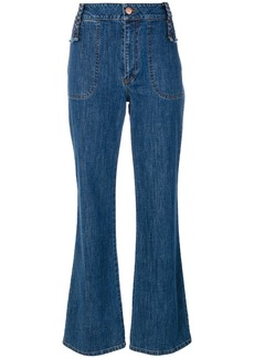 See By Chloé retro flare cropped jeans - Blue