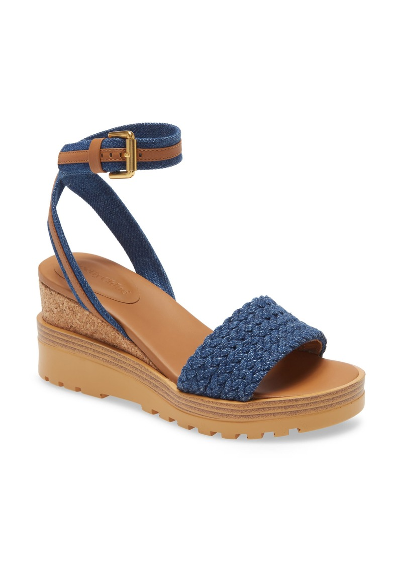 See by Chloé Robin Ankle Strap Wedge Sandal (Women)