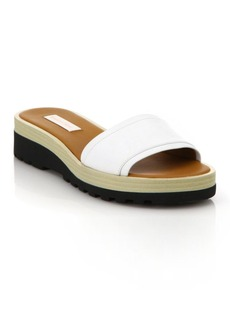 See by Chloé Robin Leather Demi-Wedge Slide Sandals