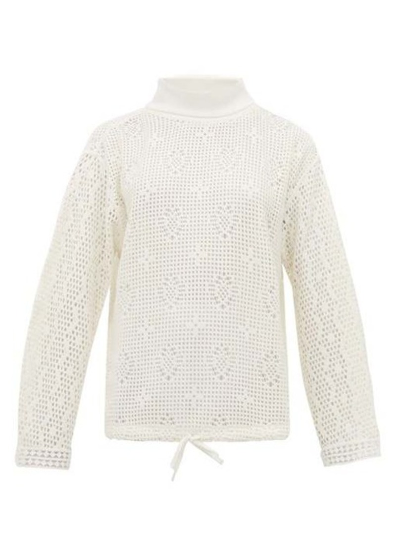 See By Chloé Roll-neck lace-knit top