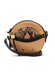 See By Chloé Rosy circular mini leather cross-body bag