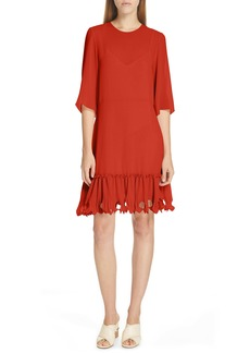 See by Chloé Ruffle Hem Shift Dress