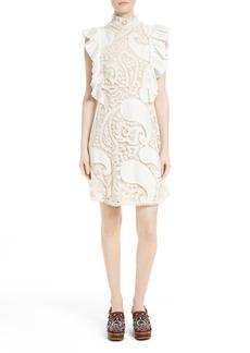 See by Chloé Ruffle Lace Shift Dress