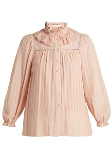See By Chloé Ruffle-neck cotton top