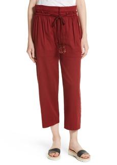 See by Chloé Ruffle Trim Drawstring Trousers