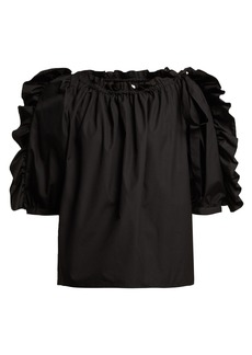 See By Chloé Ruffle-trimmed cotton top