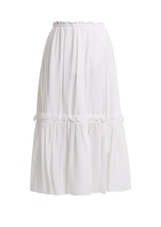 See By Chloé Ruffle-trimmed midi skirt