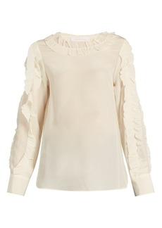 See By Chloé Ruffle-trimmed silk blouse