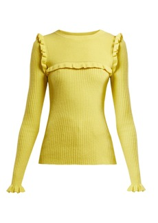 See By Chloé Ruffled alpaca-blend sweater