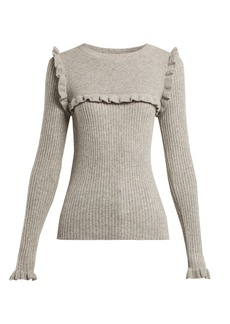 See By Chloé Ruffled alpaca-blend sweater