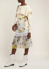 See By Chloé Ruffled-bib alpaca-blend sweater