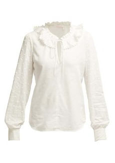 See By Chloé Ruffled-collar cotton blouse