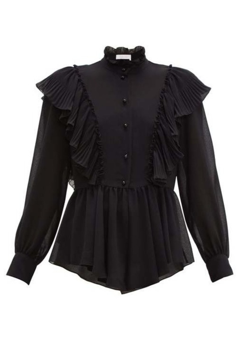 See By Chloé Ruffled-collar georgette blouse