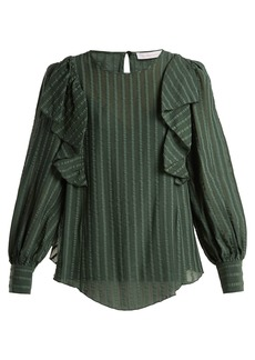 See By Chloé Ruffled cotton-blend blouse