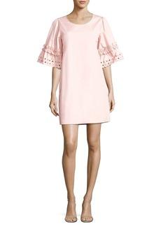 See by Chloé Ruffled Cotton Poplin Dress