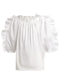 See By Chloé Ruffled cotton top