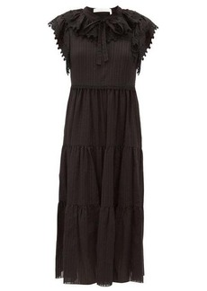 See By Chloé Ruffled cotton-voile midi dress