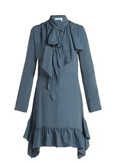 See By Chloé Ruffled crepe de Chine mini dress