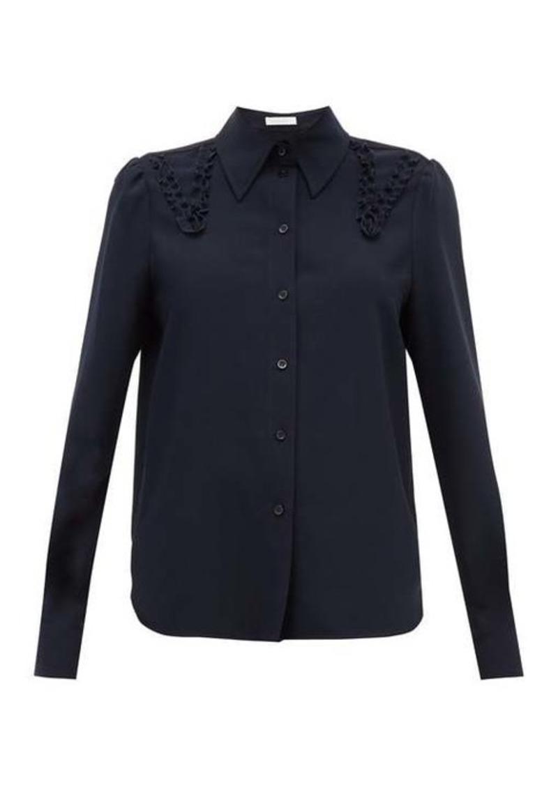 See By Chloé Ruffled crepe shirt