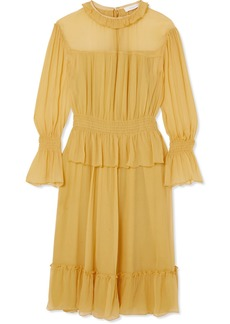 See by Chloé Ruffled Crinkled-silk Dress